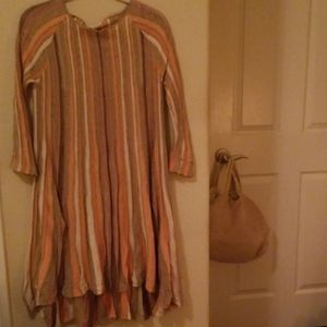 {Anthropologie} Moth Nora Striped Swing Dress